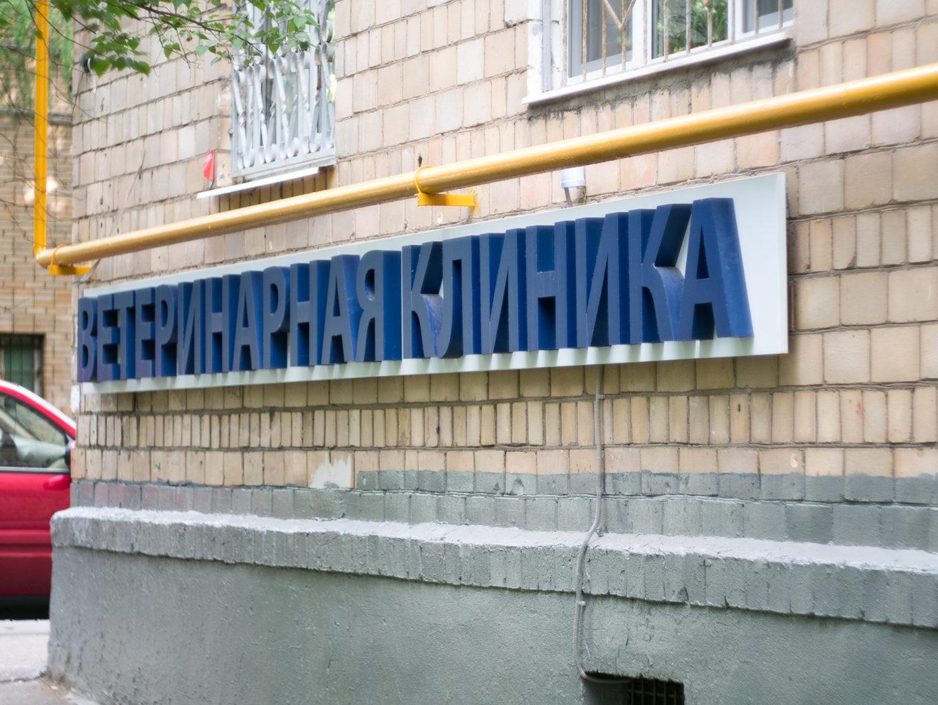"""Ветклиника """"Айболит Плюс"""" на ул. М. Ульяновой, 19. Вывеска."""