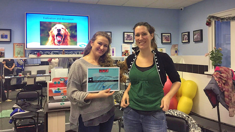 Яровая Н. А. получает сертификат специалиста по ветеринарному тейпированию!